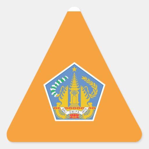 Bandera de Bali, Indonesia Calcomanías De Triangulos Personalizadas