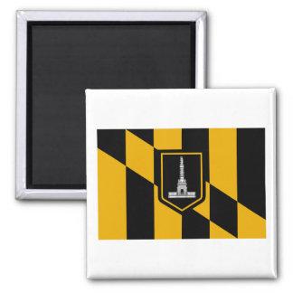 Bandera de Baltimore Imán Cuadrado