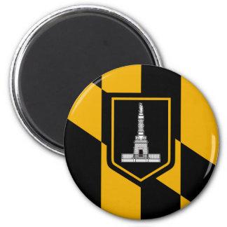 Bandera de Baltimore Imán Redondo 5 Cm
