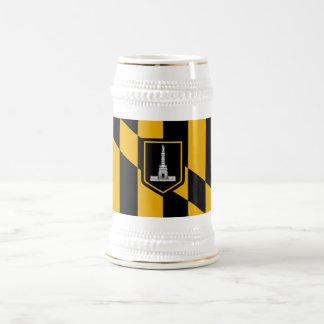 Bandera de Baltimore Jarra De Cerveza