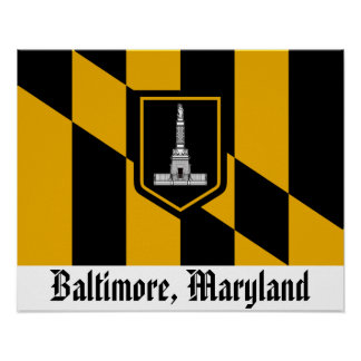 Bandera de Baltimore Poster