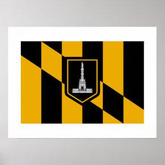Bandera de Baltimore Posters