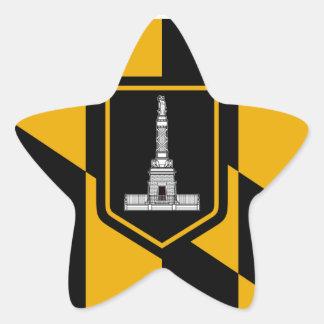 Bandera de Baltimore Pegatina En Forma De Estrella
