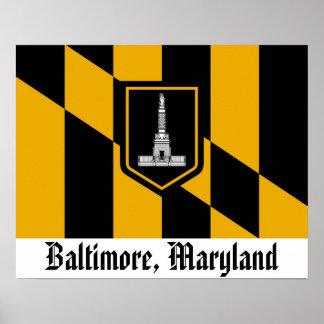 Bandera de Baltimore Póster