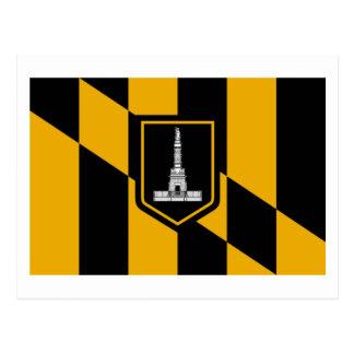 Bandera de Baltimore Tarjeta Postal