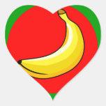 Bandera de Banana Republic Calcomanías De Corazones