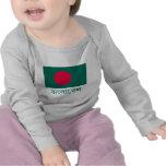 Bandera de Bangladesh con nombre en bengalí Camisetas