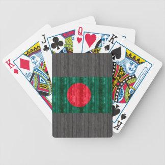 Bandera de Bangladesh de madera Baraja Cartas De Poker