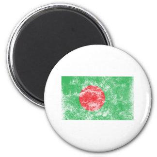 Bandera de Bangladesh del vintage Imán Redondo 5 Cm