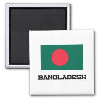 Bandera de Bangladesh Imán Cuadrado