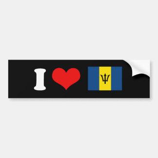 Bandera de Barbados Pegatina De Parachoque