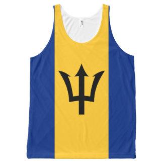 Bandera de Barbados Camiseta De Tirantes Con Estampado Integral