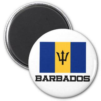 Bandera de Barbados Imán Redondo 5 Cm
