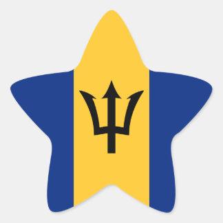 Bandera de Barbados Pegatina En Forma De Estrella