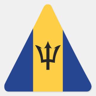 Bandera de Barbados Pegatina Triangular