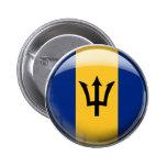 Bandera de Barbados Pin Redondo 5 Cm