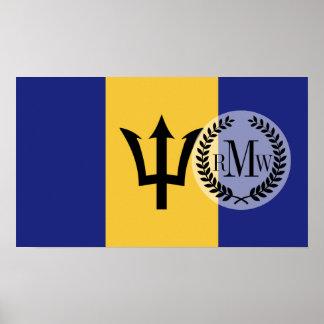 Bandera de Barbados Póster