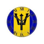 Bandera de Barbados Relojes De Pared