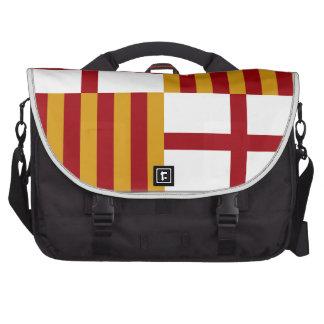 Bandera de Barcelona (España) Bolsas De Ordenador