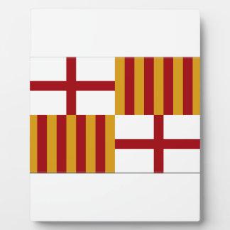 Bandera de Barcelona (España) Placas De Plastico