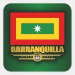 Bandera de Barranquilla Colcomanias Cuadradass