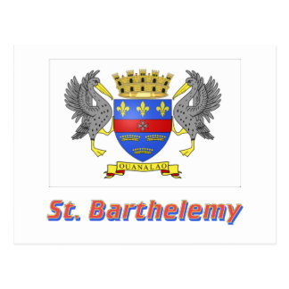 Bandera de Barthelemy del santo con nombre Postal