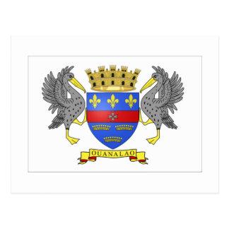 Bandera de Barthelemy del santo Postal