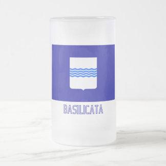 Bandera de Basilicata con nombre Taza Cristal Mate