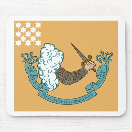 Bandera de batalla revolucionaria de la guerra tapete de ratones