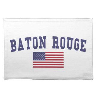 Bandera de Baton Rouge los E.E.U.U. Manteles