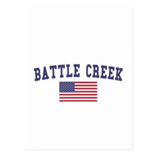 Bandera de Battle Creek los E.E.U.U. Postales