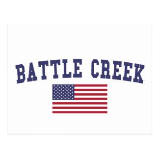 Bandera de Battle Creek los E.E.U.U. Tarjeta Postal