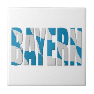 Bandera de Baviera (Baviera) (GE) Azulejo Cuadrado Pequeño
