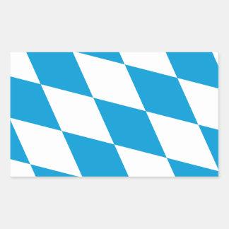 Bandera de Baviera CUATRO Rectangular Pegatinas