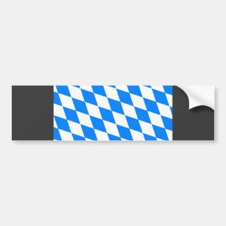 Bandera de Baviera de Alemania Etiqueta De Parachoque