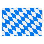 Bandera de Baviera de Alemania Tarjeta De Felicitación