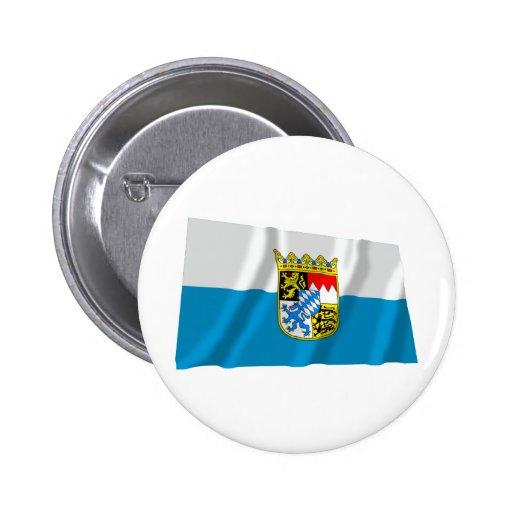 Bandera de Baviera/de Baviera con los brazos Pin Redondo De 2 Pulgadas