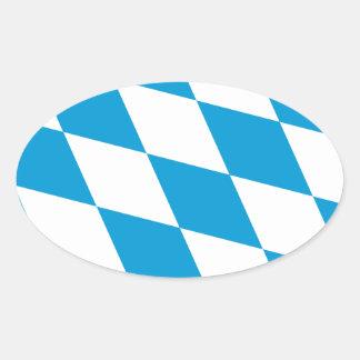 Bandera de Baviera Pegatinas De Óval Personalizadas