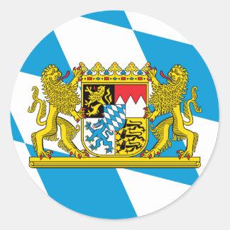 Bandera de Baviera Pegatina Redonda