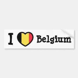 Bandera de Bélgica Etiqueta De Parachoque