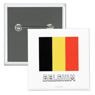 Bandera de Bélgica con nombre Pin