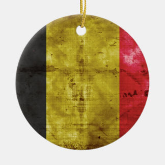 Bandera de Bélgica Ornamento De Navidad