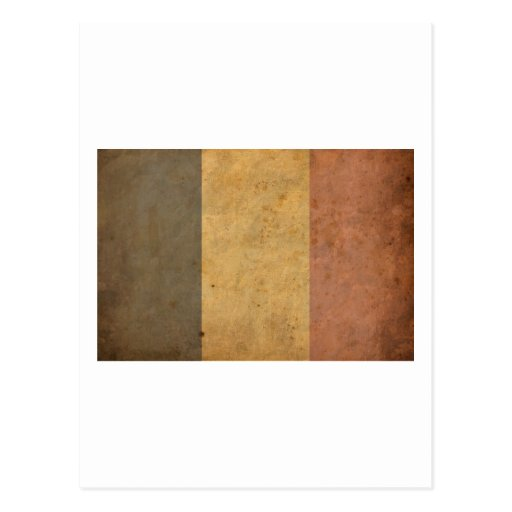 Bandera de Bélgica del vintage Postal