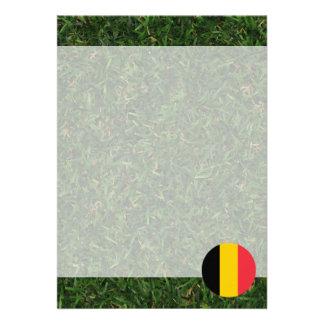 """Bandera de Bélgica en hierba Invitación 5"""" X 7"""""""