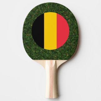 Bandera de Bélgica en hierba Pala De Ping Pong