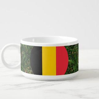 Bandera de Bélgica en hierba Tazón
