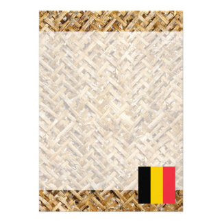 """Bandera de Bélgica en la materia textil temática Invitación 5"""" X 7"""""""