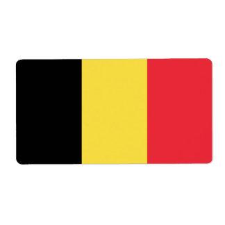 Bandera de Bélgica Etiquetas De Envío