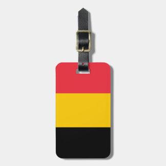 Bandera de Bélgica Etiqueta Para Maleta