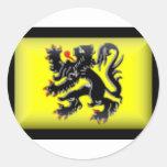 Bandera de Bélgica-Flandes Etiqueta
